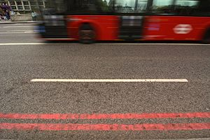 Red route - Image: Red Route Westminster Bridge