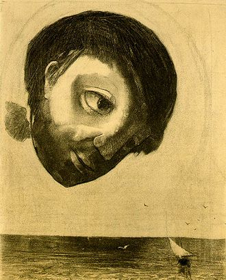 Modernism - Odilon Redon, Guardian Spirit of the Waters, 1878, charcoal on paper, Art Institute of Chicago