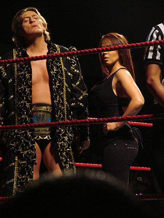 Layla El - Layla with Intercontinental Champion William Regal in January 2009