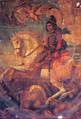 Rei D. Sebastião a cavalo (século XVIII) - Seminário de Rachol, Goa, Índia.png