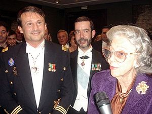 Queen Fabiola of Belgium - Queen Fabiola during a visit to the Barcelona Cathedral in 2007