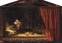 Rembrandt, The Holy Family with a Curtain, 1646, Museum Schloss Wilhelmshöhe, Kassel.jpg