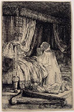 Rembrandt van Rijn - David in Prayer