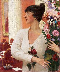 REPIN Ilya  Portrait of Mrs Beatrice Levi 1918