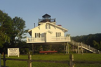 Roanoke River - Replica of the Roanoke River Lighthouse, built at Plymouth, North Carolina
