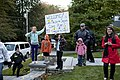 Residents in West Newton, Mass. ask whether Malia & Sasha Obama can come play with them, 2010.jpg