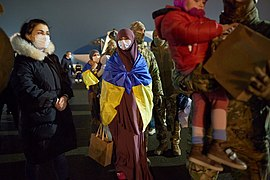 Returning of Ukrainian women and children from Syrian refugee camp 02.jpg