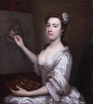 Arthur Pond - Portrait of Rhoda Delaval Astley, c.1750, whom Pond taught to paint