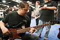 Rich Dorkin of Visions (Regenerate Vintage Recording series J style bass) - 2014 NAMM Show.jpg
