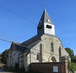 The church in Ricquebourg