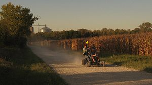 Off road go-kart - Riding a go-kart