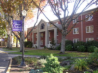 Linfield College - Riley Center, location of the Associated Students of Linfield College and the College Bookstore;