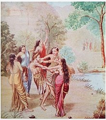Rishyashringa Lured into Anga Desha by Dancing Girls.jpg
