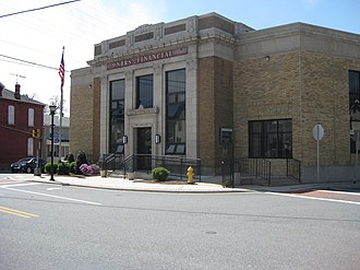Rising Sun, Maryland - The historic bank building in Rising Sun