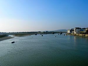 River Adur - River Adur at Shoreham-by-Sea, view towards Norfolk Bridge