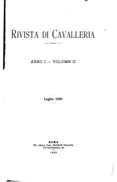 File rivista di cavalleria volume ii 1898 djvu wikisource for Rivista di programmi domestici