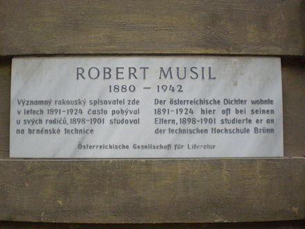 Commemorative plaque in Brno