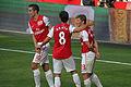Robin Van Persie, Mikel Arteta & Andrey Arshavin goal celebration vs Swansea 2011.jpg