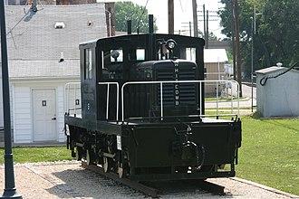Geo D. Whitcomb Company - A Whitcomb locomotive at Rochelle Railroad Park in Rochelle, Illinois.