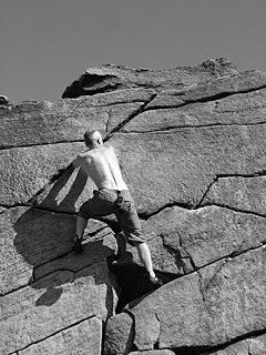 Rock Climbing on Burbage Rocks - geograph.org.uk - 356706