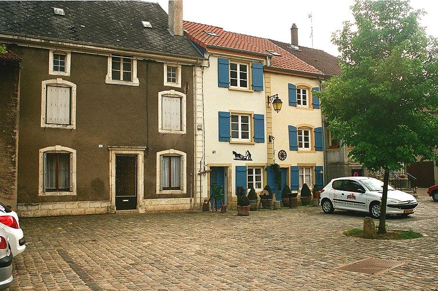 """Rodemack, the square """"Place de la Fontaine"""""""