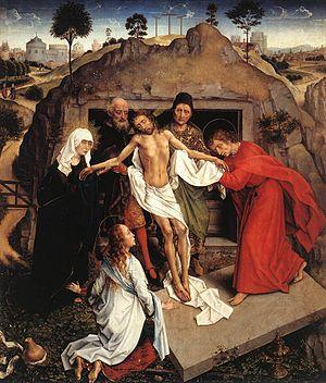 Lamentation of Christ (van der Weyden) - Image: Rogier van der Weyden 013.1