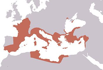 English: Map of the Roman Republic in 40 BC af...