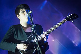 Xx (album) - Romy Madley Croft in 2012 with an Epiphone Les Paul, the guitar she played on the album