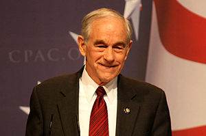 Ron Paul speaking at the 2010 CPAC.