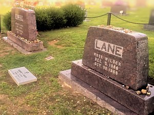 Rose Wilder Lane - Lane's gravesite next to that of her parents, Mansfield Cemetery, Missouri