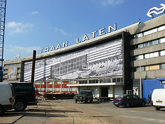 Rotterdam Centraal station - Rearranged roof text spelled the 1957 Central Stations swan song.