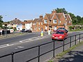 Roundabout at the junction of Bere Lane and Chilkwell Street, Glastonbury - geograph.org.uk - 217602.jpg
