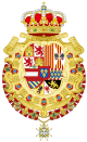 Royal Greater Coat of Arms of Spain (1700-1761) Version with Golden Fleece and Holy Spirit Collars.svg
