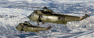845 Naval Air Squadron - Sea King HC4 of 845 NAS over Northern Norway in 2014