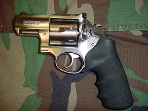 A Ruger Redhawk Alaskan chambered in .44 Magnum
