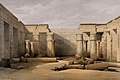 Ruins at Medinet Abou, Thebes, Egypt. Tinted lithograph by L Wellcome V0049380.jpg