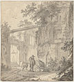 Ruins of a classic building, by Adriaen van der Kabel.jpg