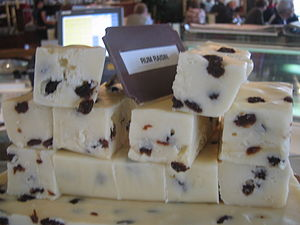 Rum Raisin Fudge at Chester Fudge.