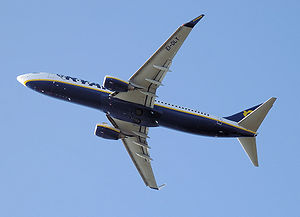 A Ryanair Boeing 737-800 on take-off