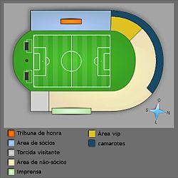 492ae3b229 Distribuição dos lugares do Estádio de São Januário.