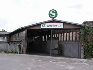 Berlin Westkreuz station - Sole entrance of Westkreuz station
