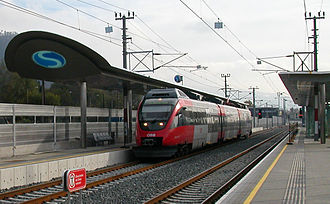 Salzburg S-Bahn - Class 4023 set on the S 3 in Salzburg Sam.