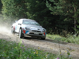 François Duval - Duval in a Ford Puma at the 2001 Rally Finland