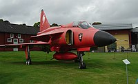 SAAB J-37 Viggen special red version.jpg
