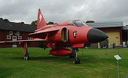 SAAB J-37 Viggen special red version.jpg