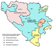 Province Autonome Serbe (SAO), 1991-1992, territori ribelli al governo della Bosnia-Erzegovina