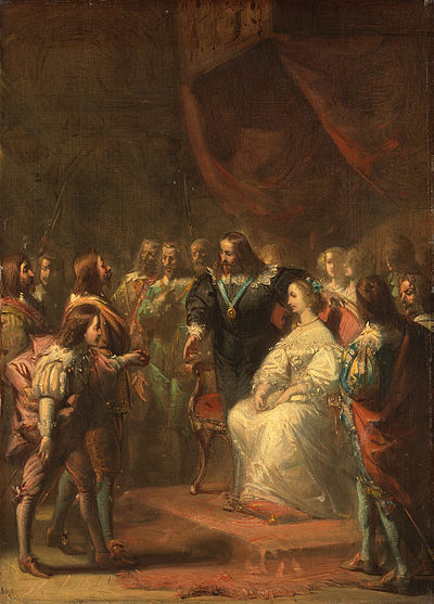 SA 787-Anno 1641. Tromp stelt de jonge prins Willem van Oranje aan koning Karel I van Engeland voor