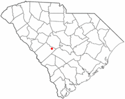 Location of Wagener, South Carolina