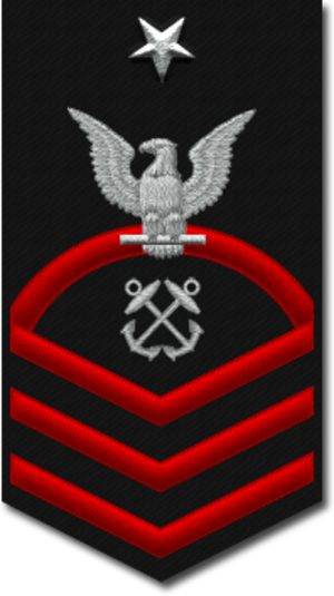 Senior chief petty officer - E-8 insignia