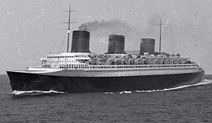 SS Normandie - Image: SS Normandie at sea 01